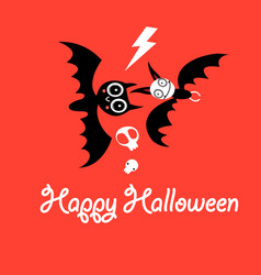 greeting card for halloween vector image