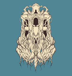 House with roots made in hand drawn style trendy vector