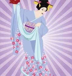 Kabuki dancer vector