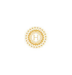 Letter h initial logo for wedding boutique luxury vector