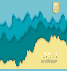 liquid background fluid shape composition golden vector image