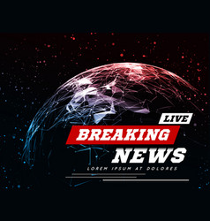 Live breaking news can be used as design vector