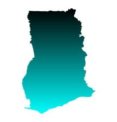 Map of Ghana vector image