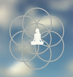 Meditation pose design vector