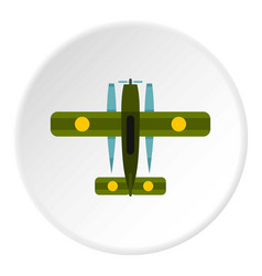 military biplane icon circle vector image
