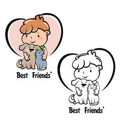 modern pet logo vector image