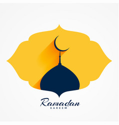 Mosque top with moon for ramadan or eid festival vector