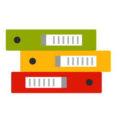 office folder stack icon flat style vector image