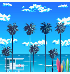 palm trees beach vector image