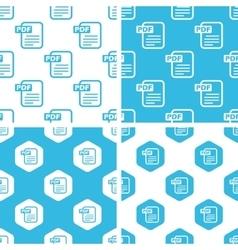 PDF document patterns set vector