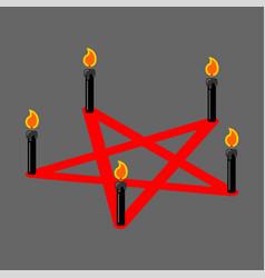 Pentagram devil satan sign ritual symbol call vector