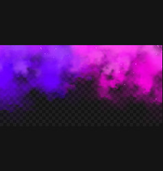 realistic purple and violet colorful smoke clouds vector image