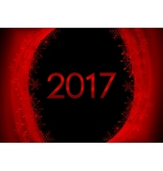 Red black New Year 2017 abstract wavy background vector image