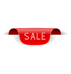 red sticker label sale vector image
