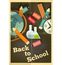 school poster chalkboard vector image