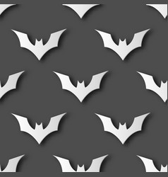 seamless halloween bat paper art pattern vector image