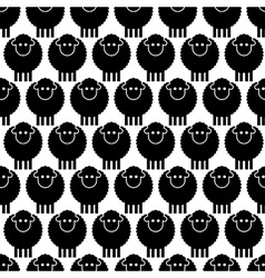 Seamless pattern black sheep vector image