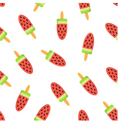 seamless pattern cute cartoon ice cream vector image