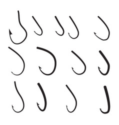 set of barbed hook icon vector image