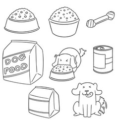 set of dog food vector image