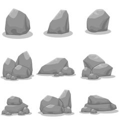 Set of stones element art vector image