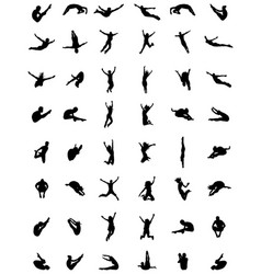 silhouettes jumping vector image