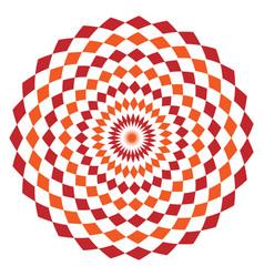 Simple geometrical pattern with rhombuses orange vector