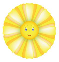 smile sunflower vector image