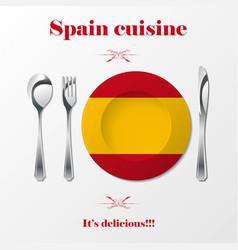 spain cuisine cutlery vector image