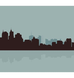 The original outline of the big city vector image