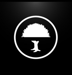 tree logo flat on a black background vector image