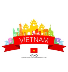 Vietnam Travel hanoi Travel vector image