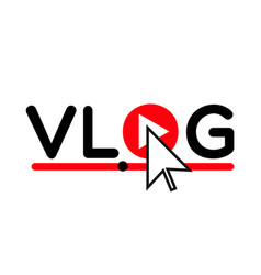 Vlog icon logo video blog concept vector