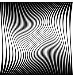 Wavy dynamic irregular lines monochrome pattern vector
