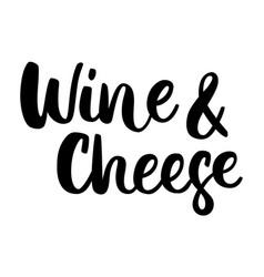Wine cheese vector