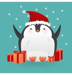Cartoon penguin character Funny bird vector image