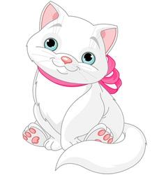 Cute fat cat vector image vector image