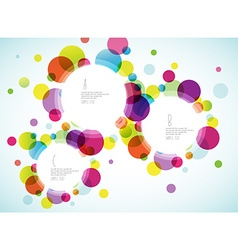 Random colorful bubbles with plance for your text vector image vector image