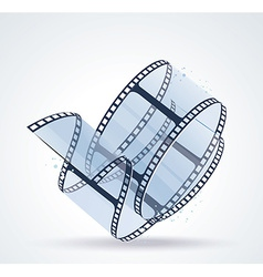 Twisted film for photo or video recording on white vector image vector image