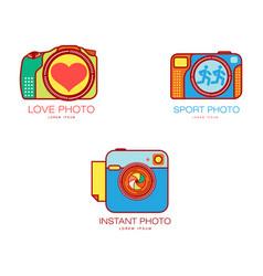 wedding sport instant photography logo templates vector image vector image