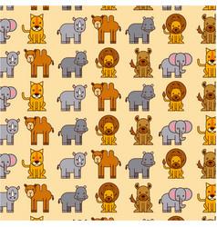 africa animals safari wildlife seamless pattern vector image vector image