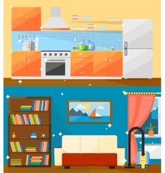 Cleaning home vector image