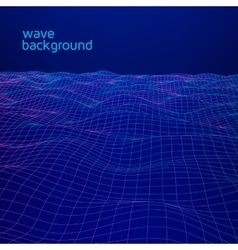 Line wave geometric background vector image vector image