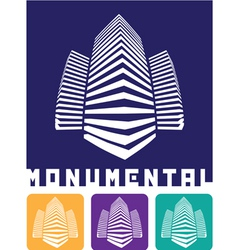 monumental construction vector image vector image