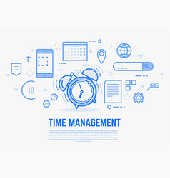 time management alarm clock vector image