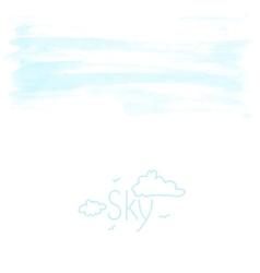 Watercolor sky background vector