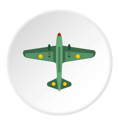 Army fighter icon circle vector