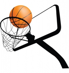 basketball hoop dynamic vector image vector image