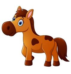 Brown horse cartoon vector image