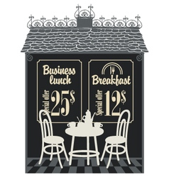business lunch cafe vector image vector image